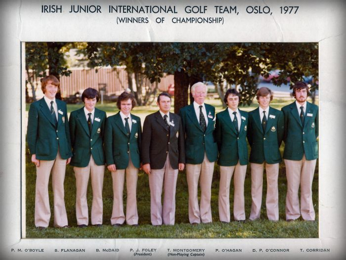 Bendan McDaid Junior Inernational Golf Team 1977