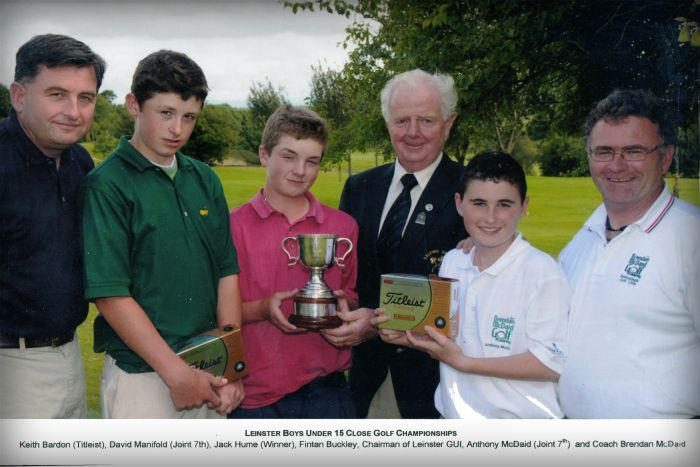 Brendan McDaid Golf, Leinster Boys Under 15 Close Golf Championship